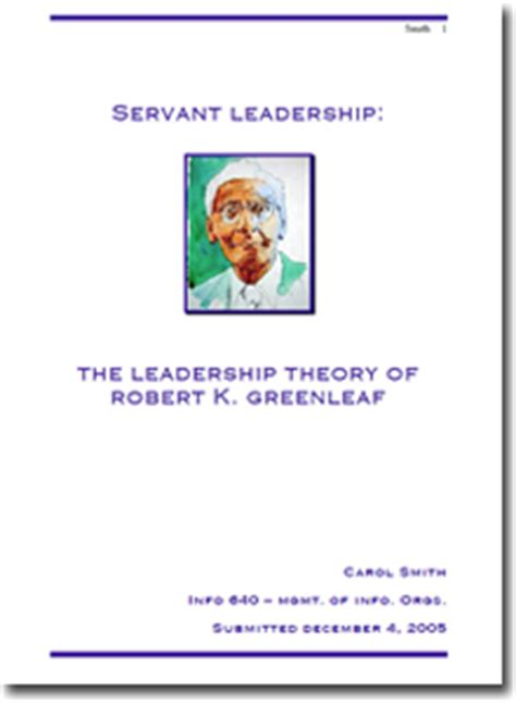 Introduction to servant leadership essay